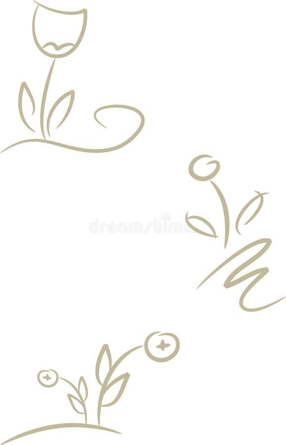 Flores para el diseño y la insignia libre illustration