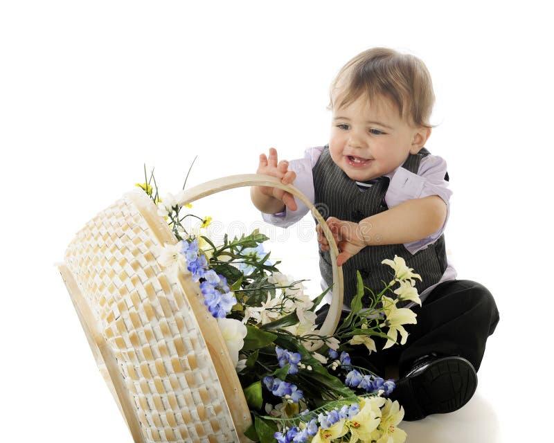 Flores?  Para mim? fotos de stock