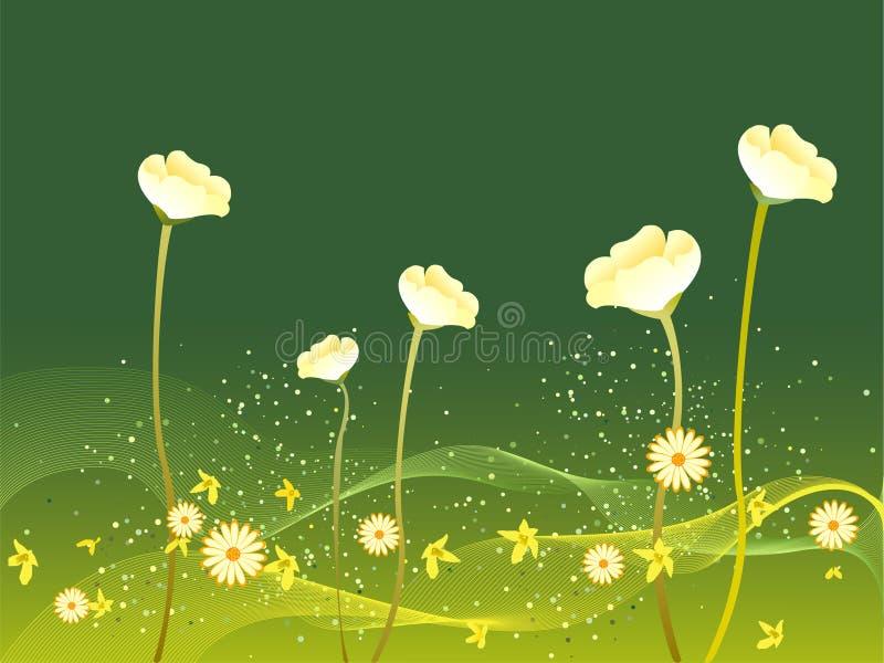 Flores que florecen en resorte ilustración del vector