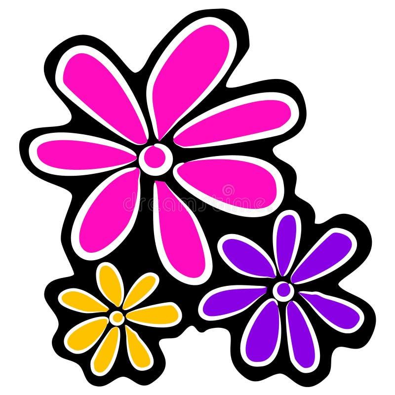 Flores Retros Abstratas Clipart Ilustra 231 227 O Stock