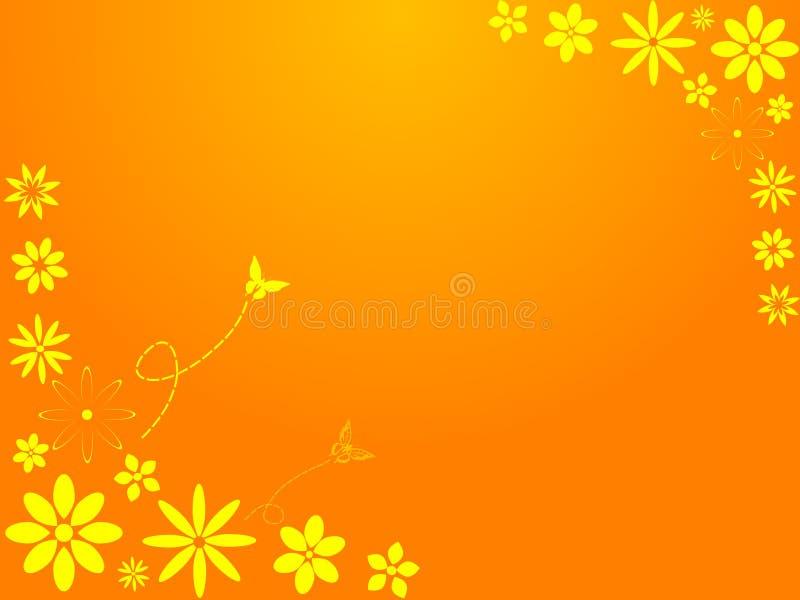 Flores retros da primavera ilustração do vetor