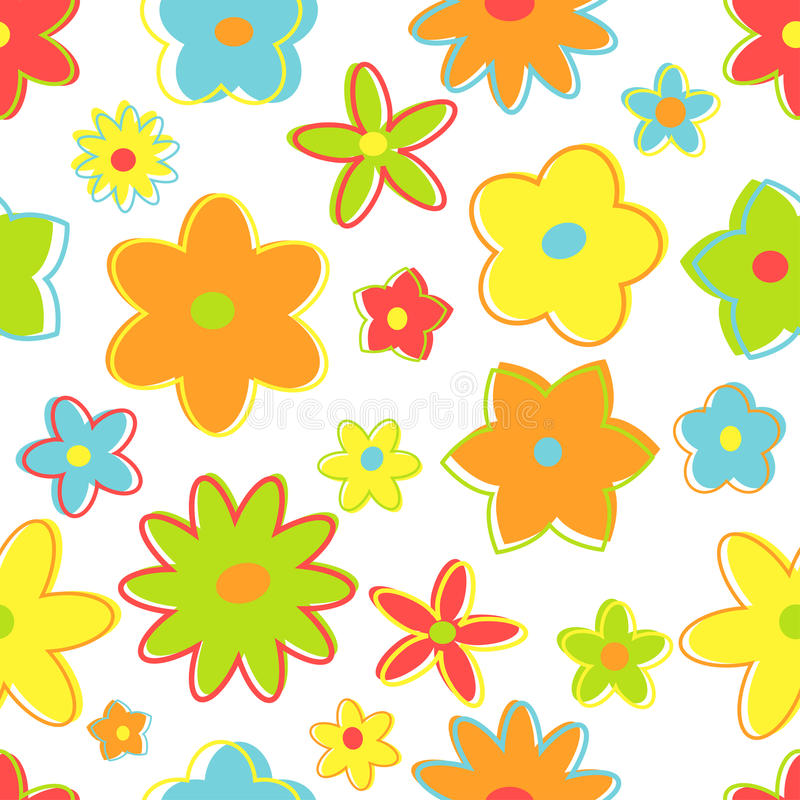 Flores retros sem emenda ilustração stock