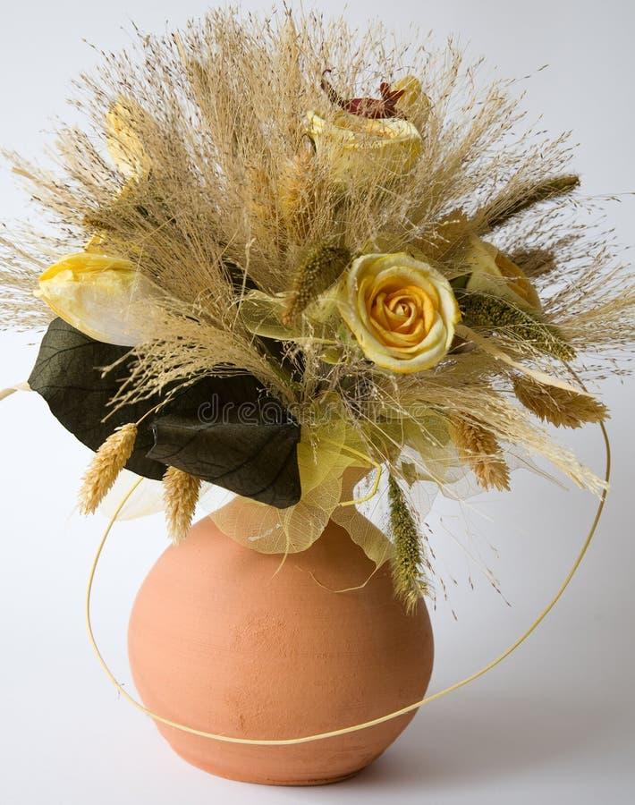 Flores Sear em um vaso imagens de stock