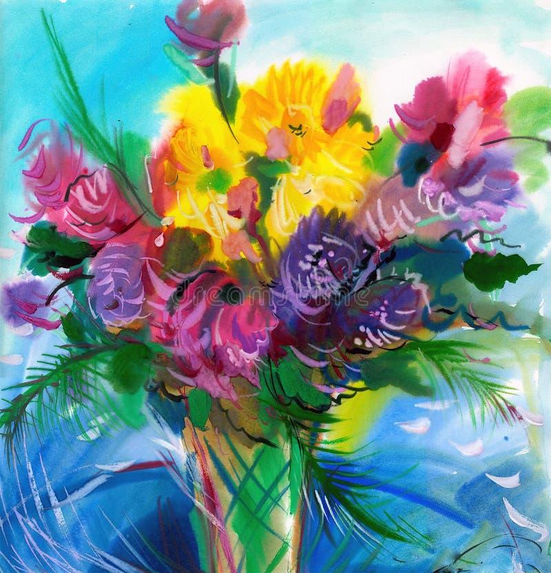 Flores selvagens ilustração stock