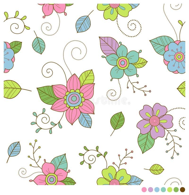 Flores sem emenda ilustração do vetor