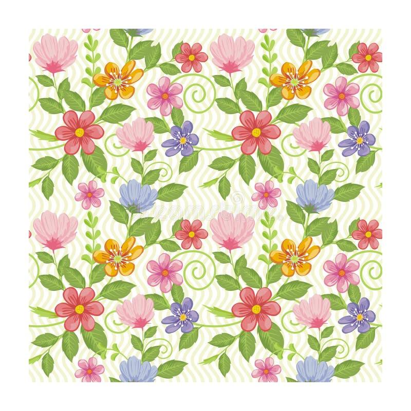 Flores sem emenda adoráveis - projeto floral do teste padrão ilustração stock