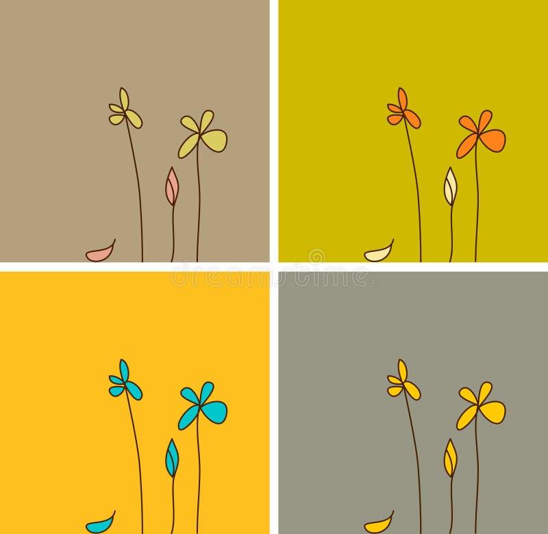 Flores simples ilustração royalty free