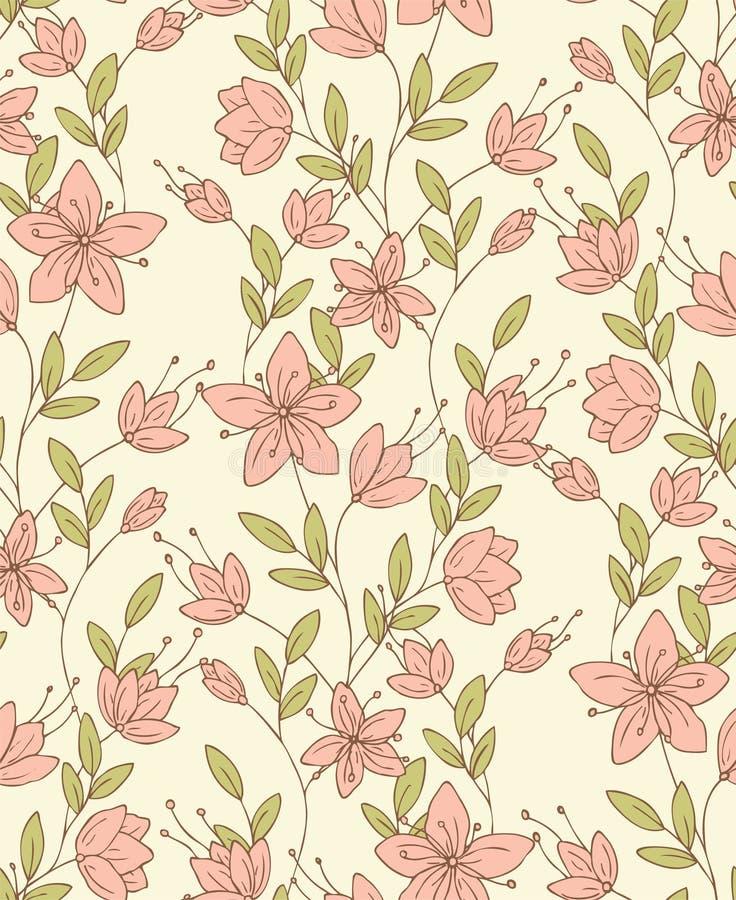 Flores simples da trepadeira ilustração stock