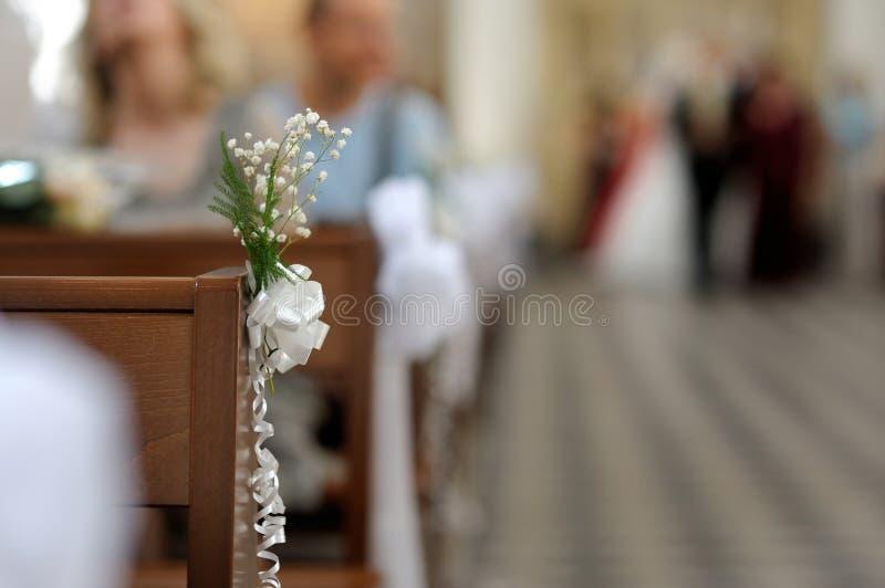 Flores simples que wedding a decoração imagens de stock