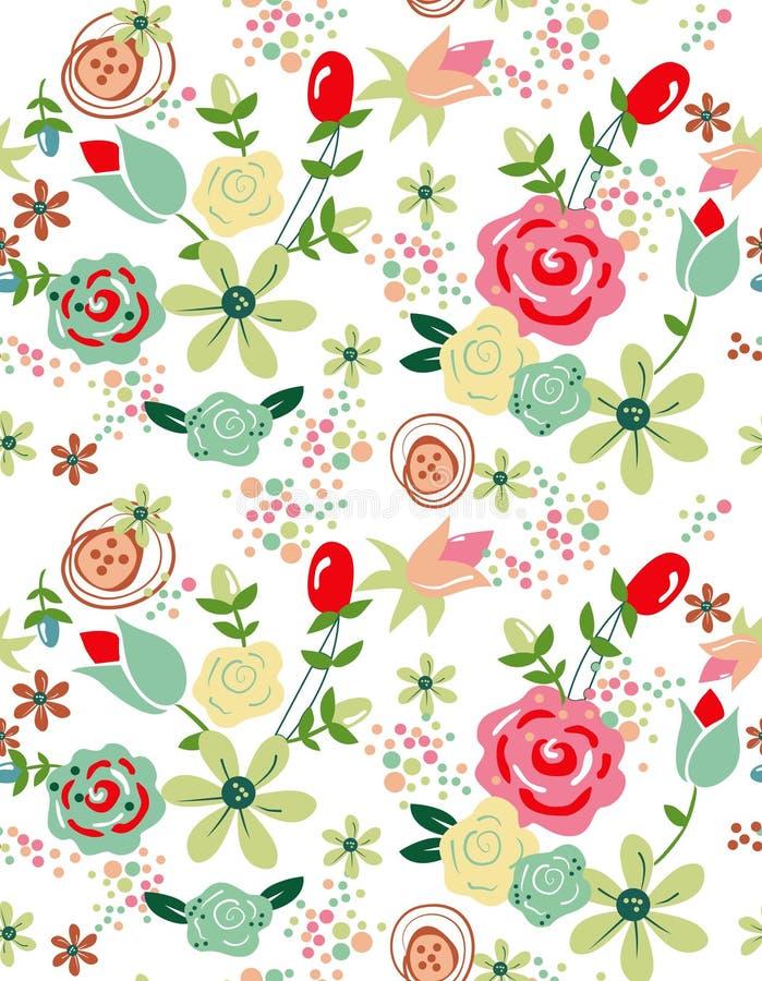 Flores suaves del modelo para el diseño libre illustration