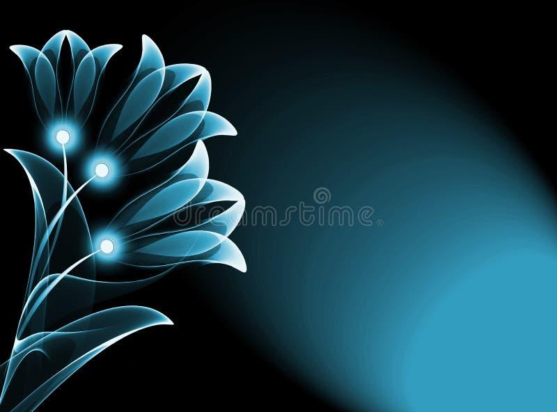 Flores transparentes ilustración del vector