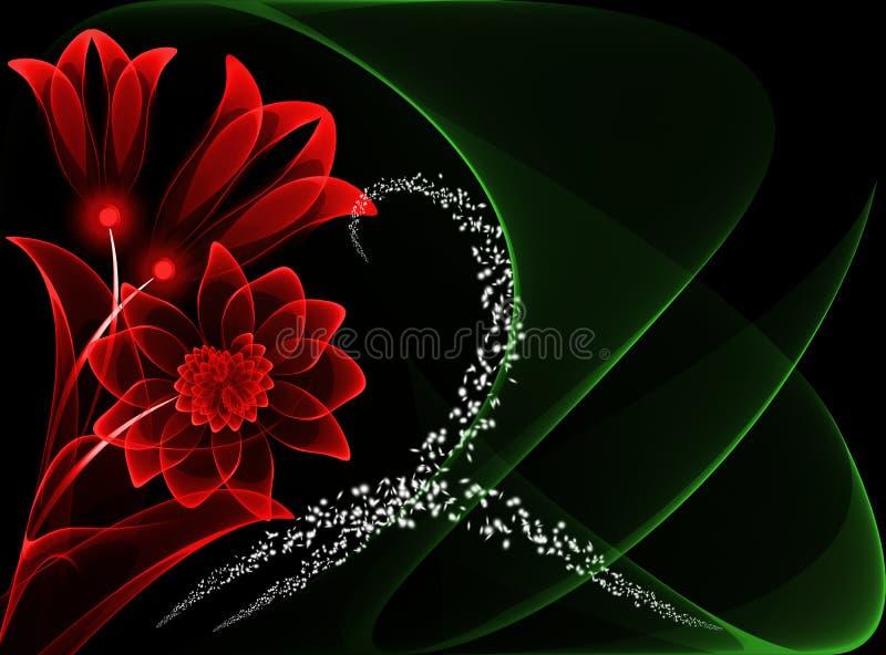 Flores transparentes ilustração royalty free