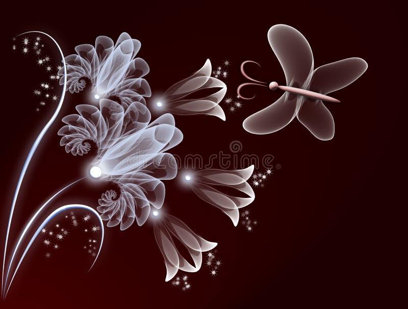 Flores transparentes ilustração do vetor
