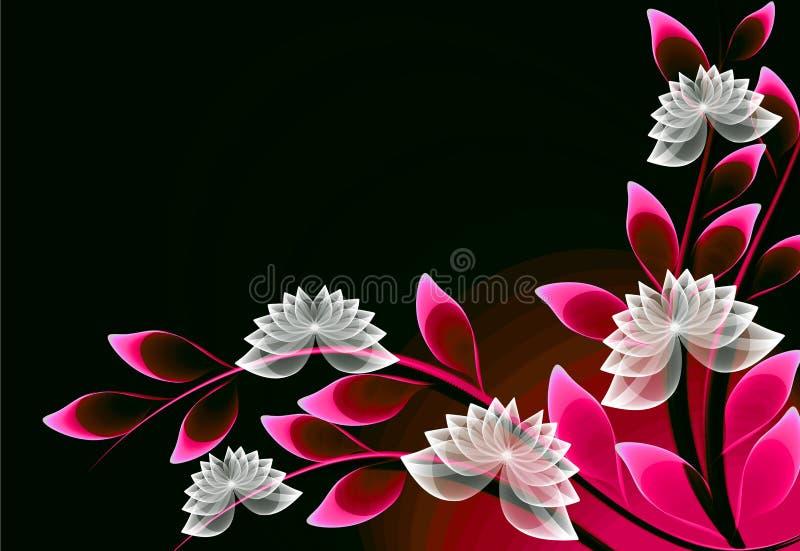 Flores transparentes fantásticas ilustración del vector