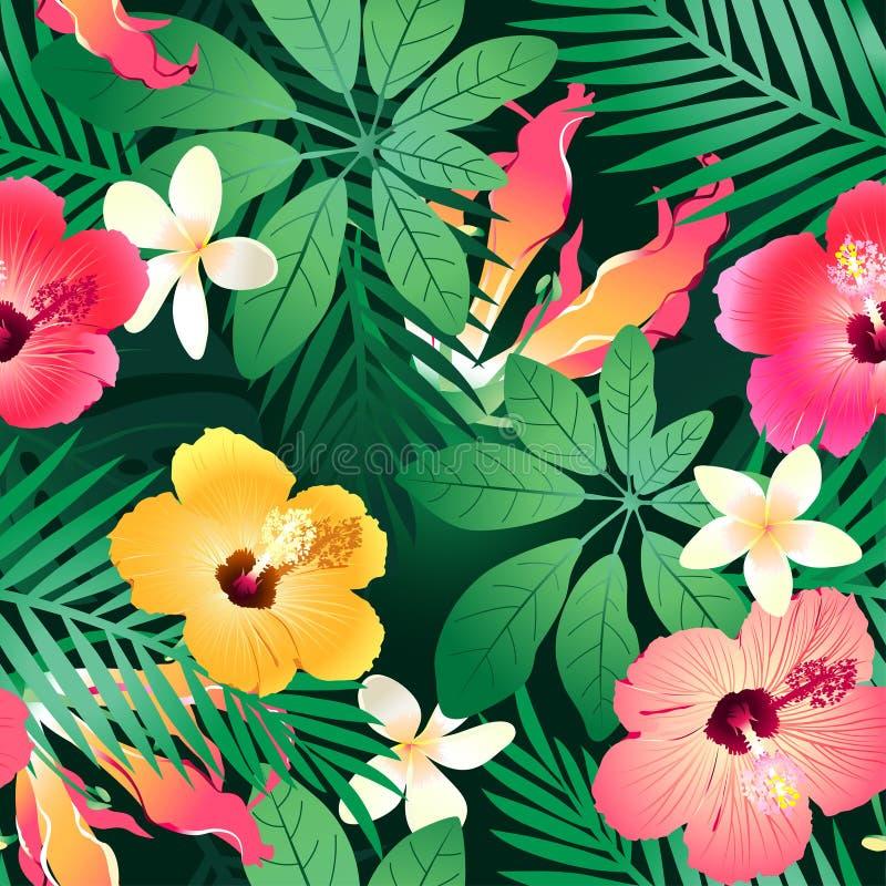 Flores tropicales enormes. stock de ilustración