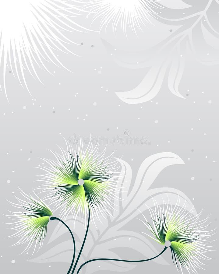 Flores verdes ilustração do vetor