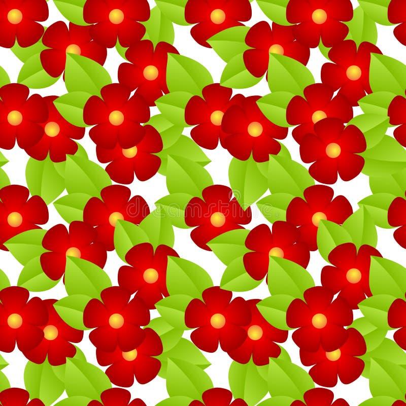 Flores vermelhas sem emenda ilustração royalty free