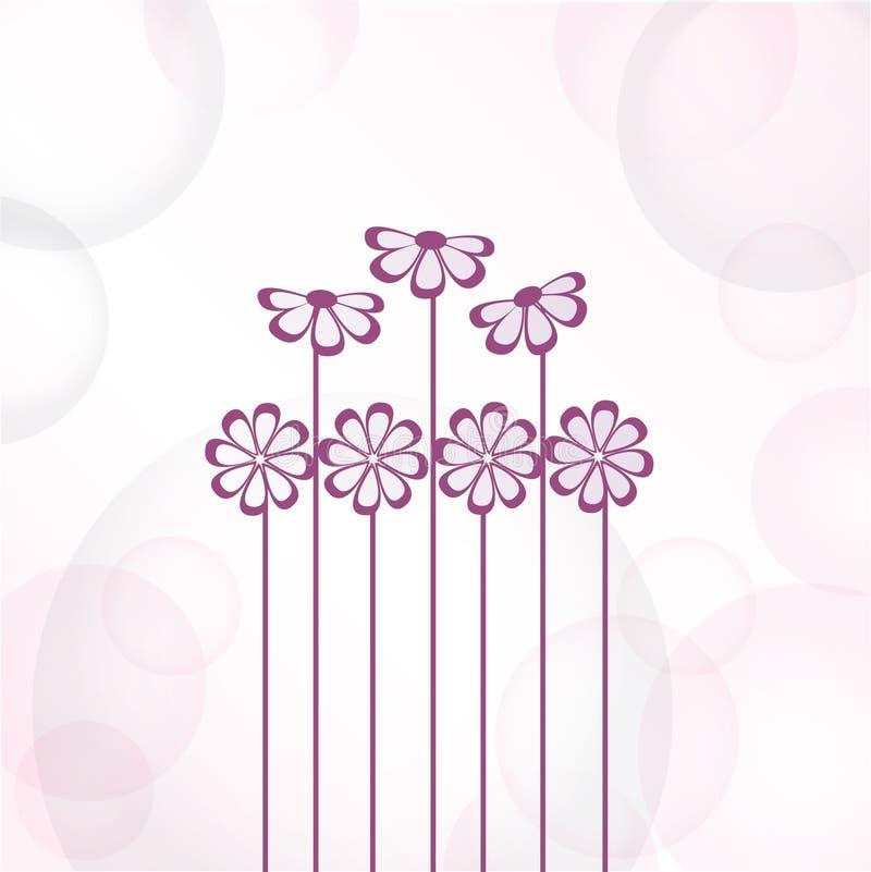 Flores violetas. Tarjeta del vector ilustración del vector