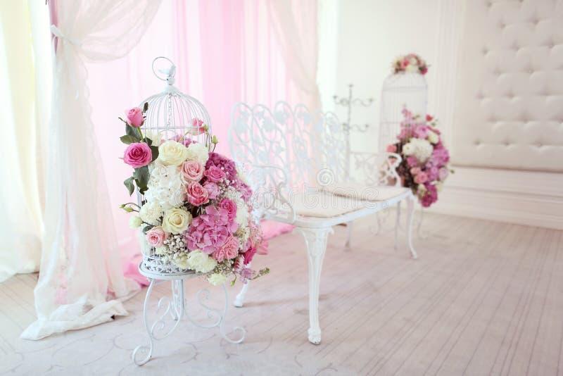 Flores wedding la decoración imagen de archivo