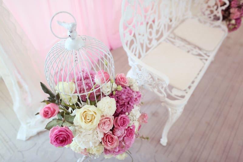 Flores wedding la decoración imagenes de archivo