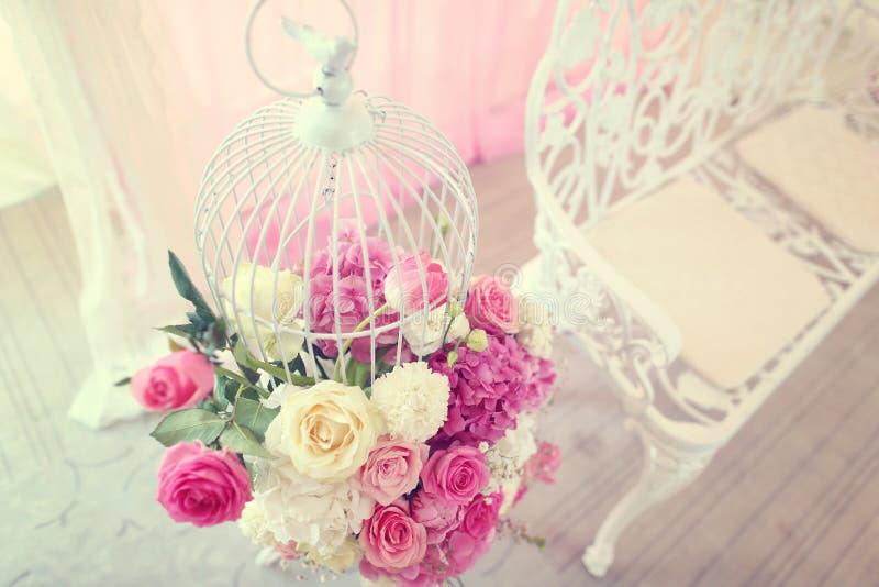 Flores wedding la decoración foto de archivo