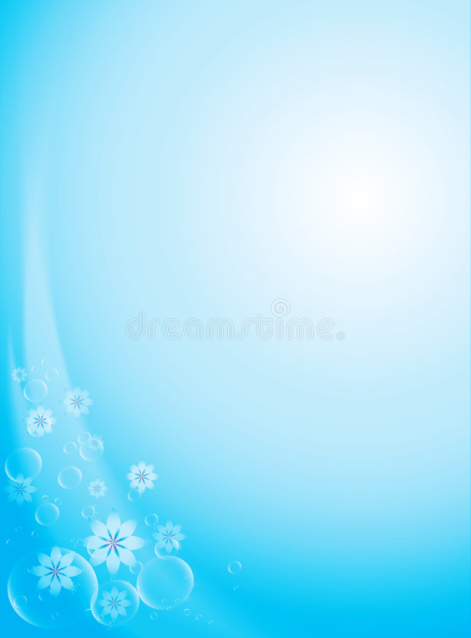 Flores y burbujas stock de ilustración
