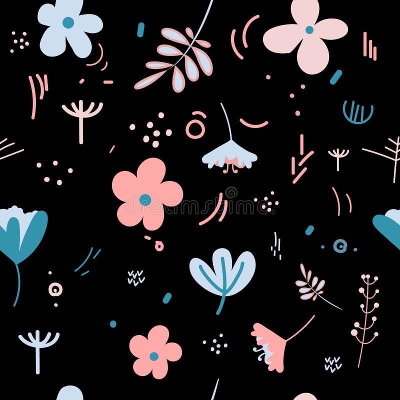 Flores Y Hojas En Colores En Colores Pastel De La Primavera ...