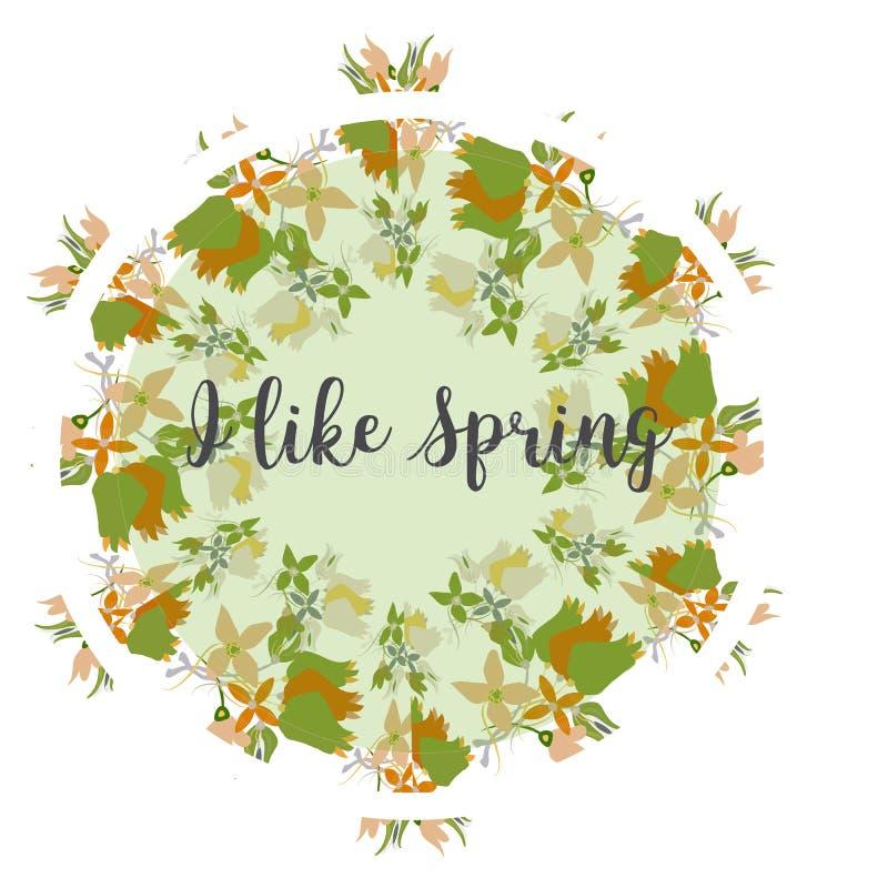 Flores y marco inconsútil de la frontera de la hierba Puede ser utilizado como la bandera, impresión de la camiseta, diseño de ta libre illustration
