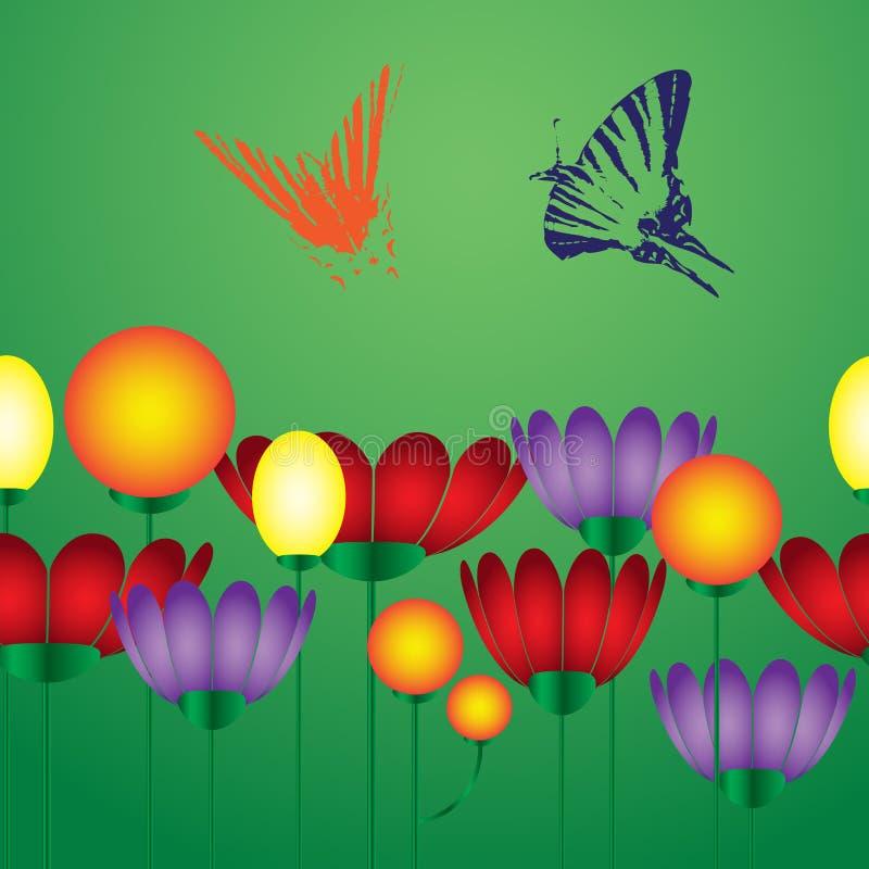 Flores y mariposa eps10 libre illustration