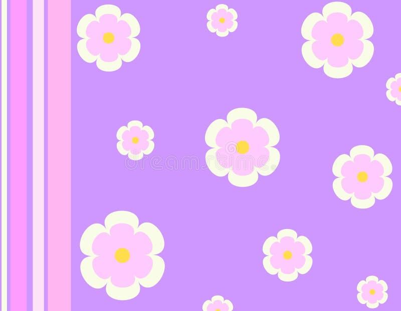 Flores y rayas ilustración del vector
