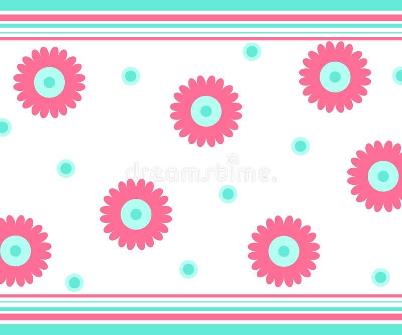 Flores y rayas libre illustration