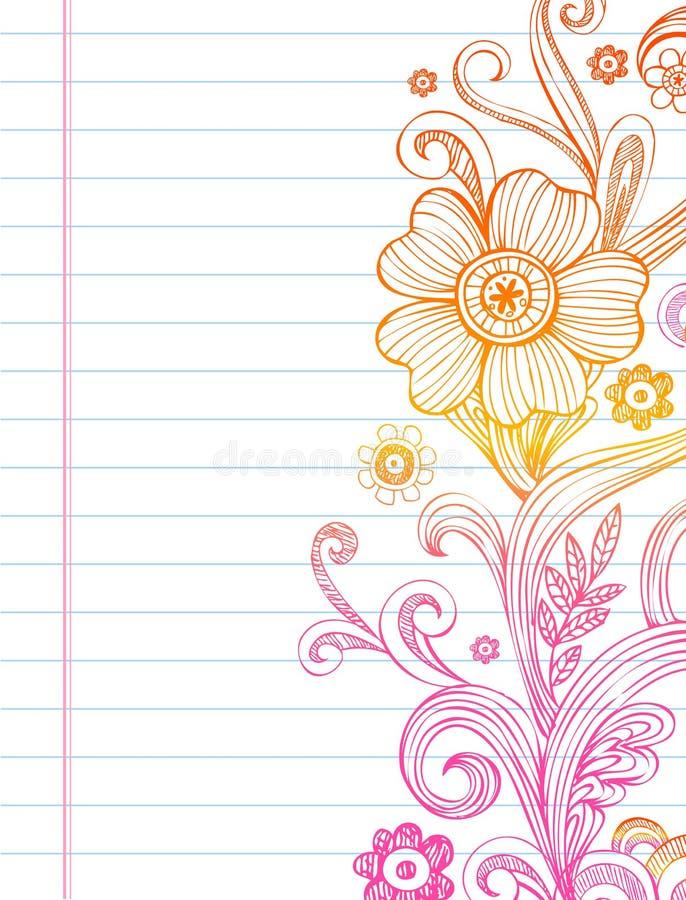 Flores y remolinos ilustración del vector
