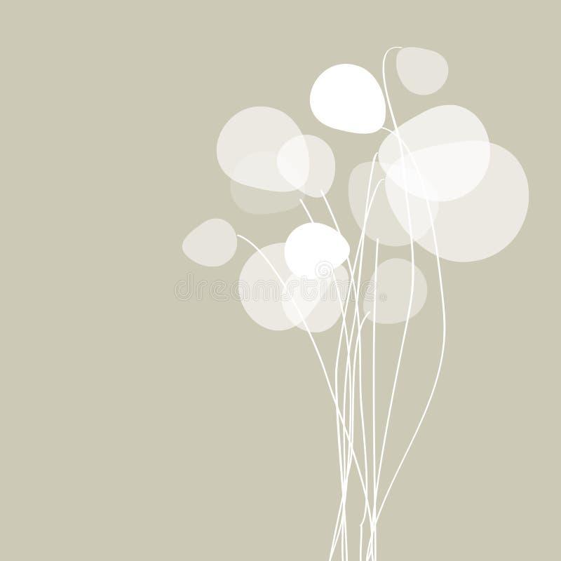 Floresce dentes-de-leão em um fundo cinzento ilustração royalty free