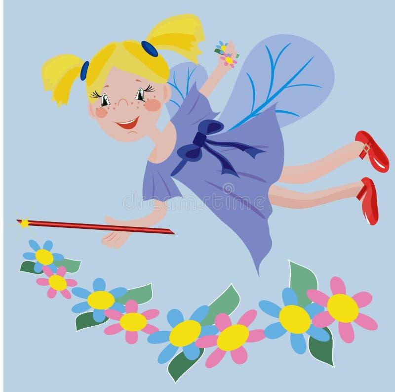 Floresce o fairy ilustração royalty free