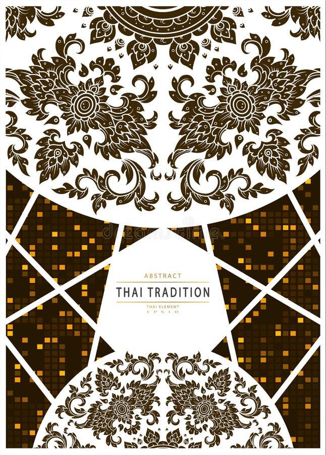 Floresce o fundo tailandês da tradição ilustração stock