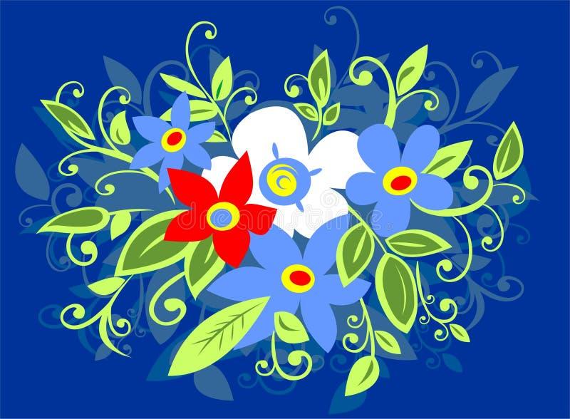 Floresce o ramalhete ilustração royalty free