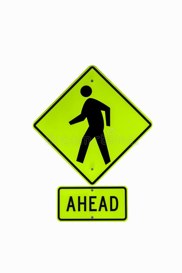Cross Walk Sign royalty free illustration