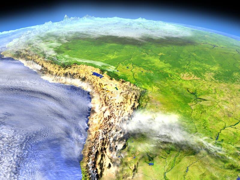 Floresta úmida das Amazonas do espaço ilustração do vetor