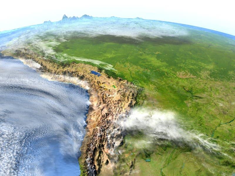 Floresta úmida das Amazonas na terra do planeta ilustração stock