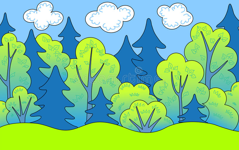 Floresta. Fotografia de Stock