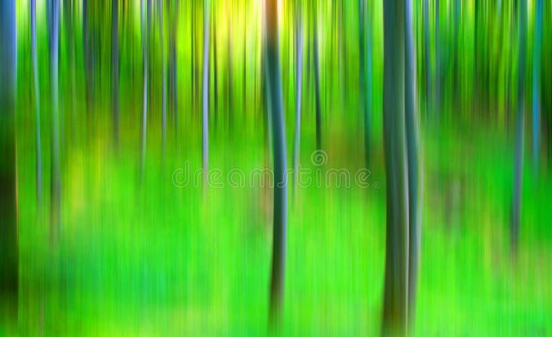 Floresta abstrata ilustração stock