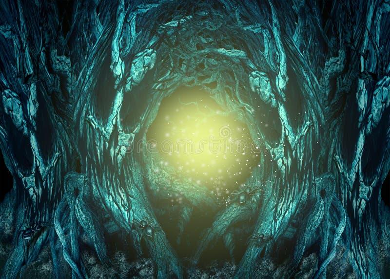 Floresta assombrada ilustração royalty free