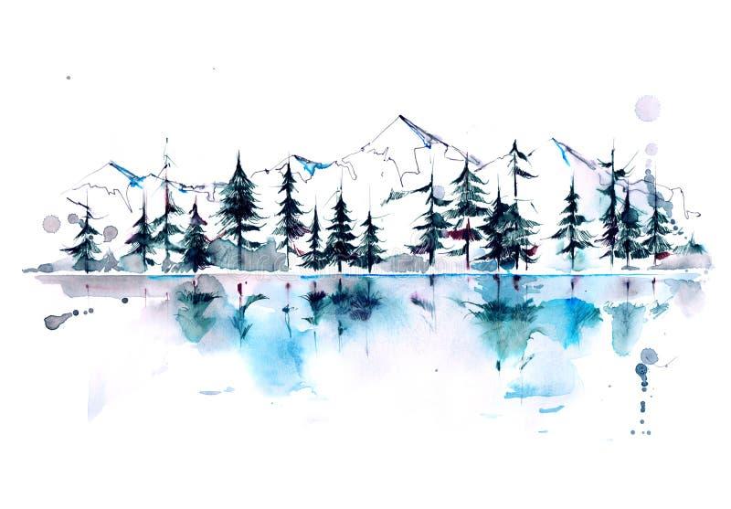 Floresta da montanha ilustração do vetor