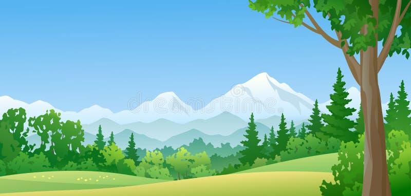 Floresta da montanha ilustração royalty free