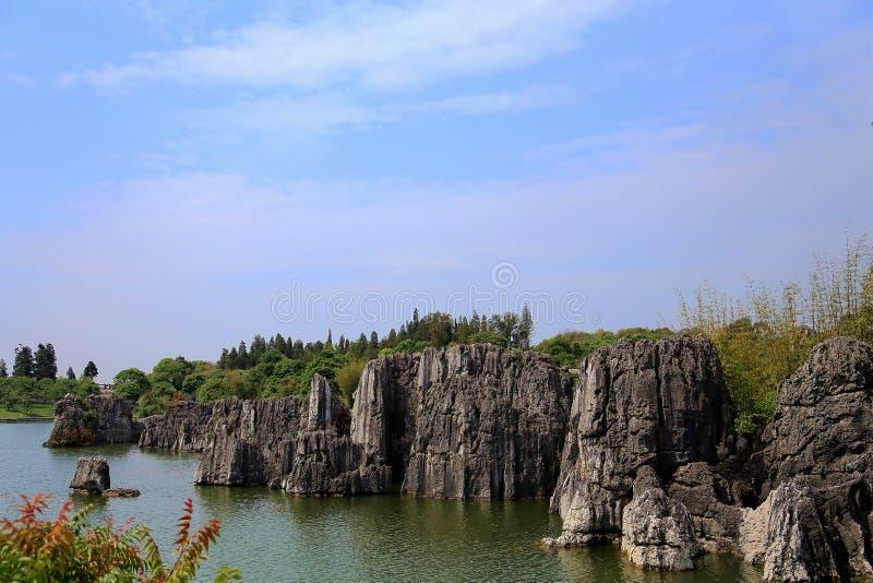 Floresta da pedra de Shilin em kunming yunnan fotografia de stock royalty free