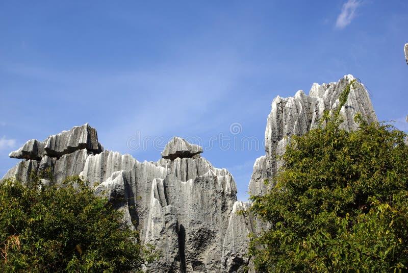 Floresta da pedra de Shilin em Kunming, Yunnan, China fotografia de stock