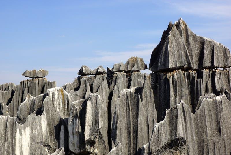 Floresta da pedra de Shilin em Kunming, Yunnan, China fotografia de stock royalty free
