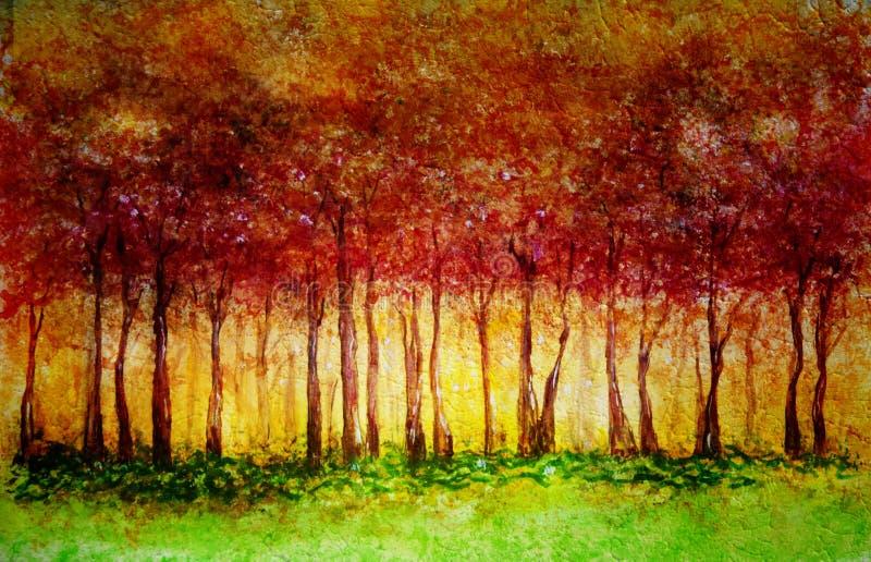 Floresta da queda ilustração royalty free