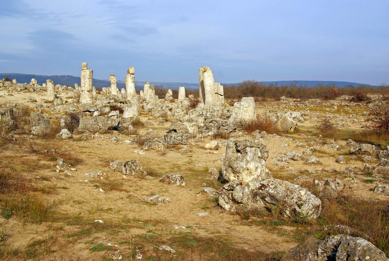Floresta de pedra - kamani do pobiti - em Bulgária imagem de stock royalty free