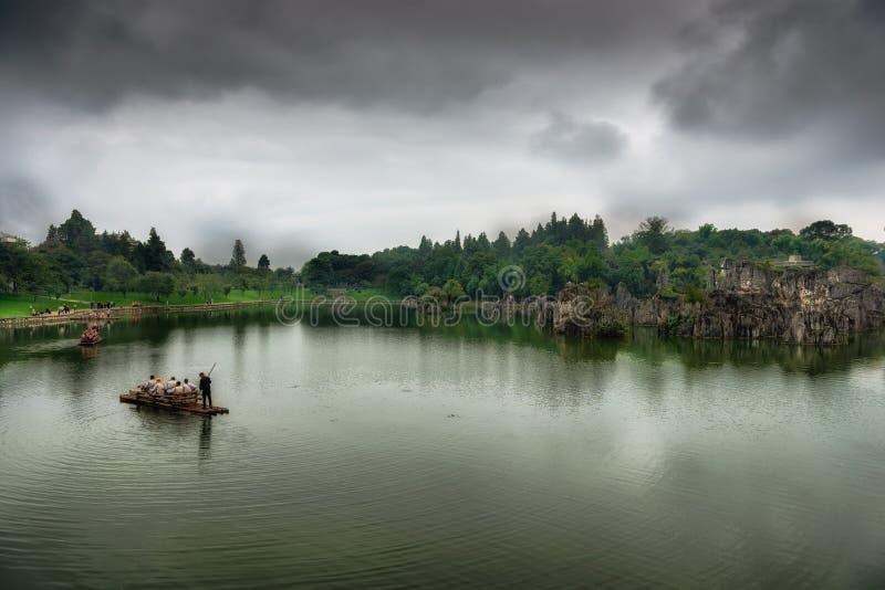 Floresta de pedra na província de yunnan, China imagens de stock royalty free
